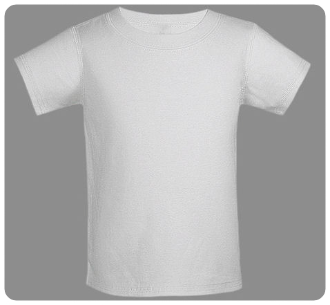 6M White Baby Basic Short Sleeved Tee
