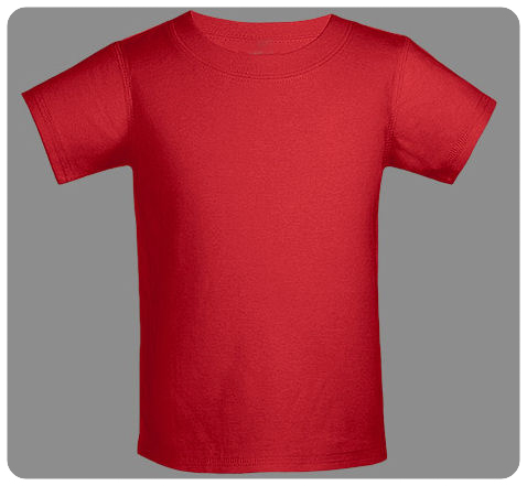 6M Red Baby Basic Short Sleeved Tee