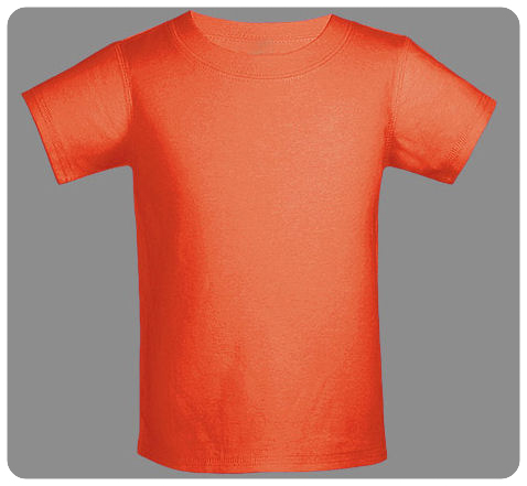 12M Varsity Orange Baby Basic Short Sleeved Tee