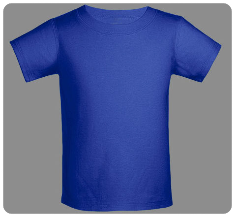 6M Cobalt Blue Baby Basic Short Sleeved Tee
