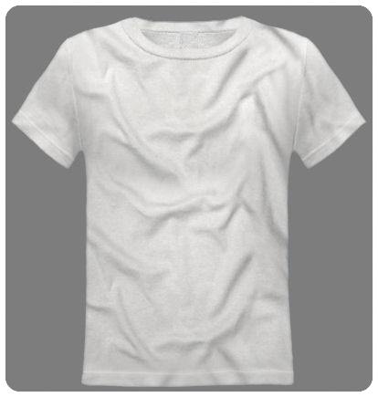 Size 2-3 XXS White Youth Basic Short Sleeved Tee