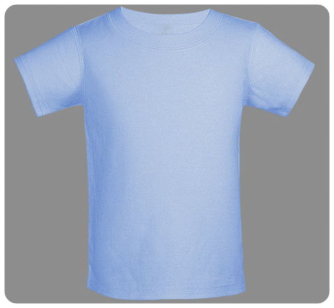 6M Blue Baby Basic Short Sleeved Tee