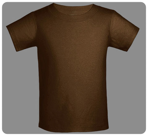 6M Brown Baby Basic Short Sleeved Tee