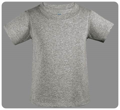 6M Heather Grey Baby Basic Short Sleeved Tee