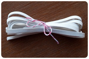 1/4 inch White Knitted Elastic - By The Yard