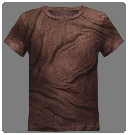 Size 2-3 XXS Brown Youth Basic Short Sleeved Tee