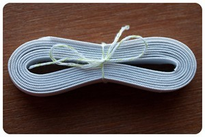 3/4 inch White Knitted Elastic - By The Yard