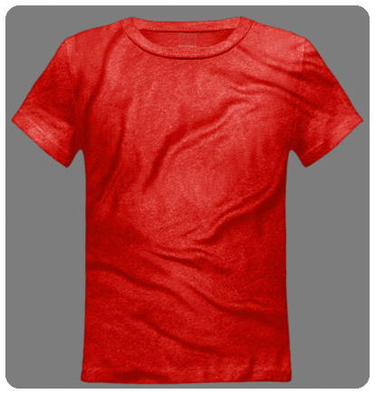 Size 14-16 Large Red Youth Basic Short Sleeved Tee