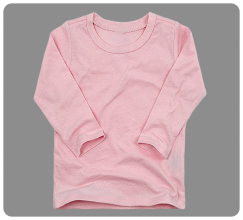 Size 6 months Baby Pink Basic Long Sleeved Tee