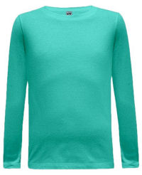 Size 6/8 Small Caribbean Blue Basic Long Sleeved Tee