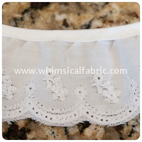 1¾ inch White Daisy Fagotted Lace - By The Yard