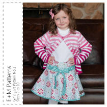 "Girl's Skirt No. 1 PDF - E+M Patterns - sz 2 thru 10 + 18"" Doll"