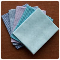 Fabric Finders - Blue Waters Gingham 5pc Fat Quarter Bundle