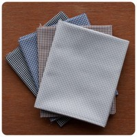 Fabric Finders - Stormy Skies Gingham 4pc Fat Quarter Bundle
