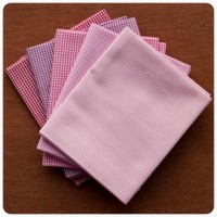 Fabric Finders - Pretty in Pink Gingham 5pc Fat Quarter Bundle