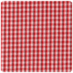 "Fabric Finders - Berry Red 1/16"" Gingham - Chubby Fat Quarter"