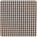 "Fabric Finders - Chocolate Brown 1/16"" Gingham - Fat Quarter"