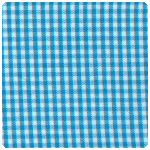 "Fabric Finders - Turquoise 1/16"" Gingham - Chubby Fat Quarter"