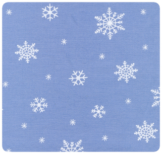 Fabric Finders Snowflakes on Blue - Chubby Fat Quarter