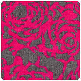 "Fabric Finders - Raspberry and Grey Floral 60"" Wide - Yardage"