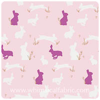 Anna Elise - Bunny Binkies Fluff Metallic - Fat Quarter