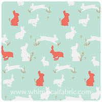 Anna Elise - Bunny Binkies Funk Metallic - Fat Quarter