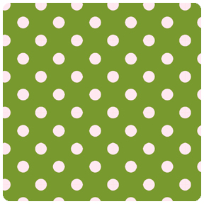 Children at Play - Green Dot to Dot - Fat Quarter
