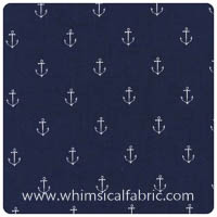 Out to Sea - Anchors Away in Navy - Yardage