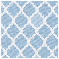 Fabric Finders - Blue Quatrefoil - Yardage