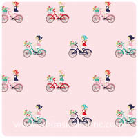 Vintage Market - Pink Bike Ride - Fat Quarter