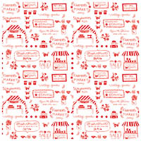 Vintage Market - Red Text - Fat Quarter