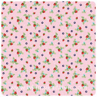 Vintage Market - Pink Strawberries - Fat Quarter