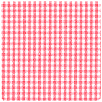 "Fabric Finders - Coral 1/16"" Gingham - Chubby Fat Quarter"