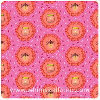 Wee Wander - Glow Friends in Pink - Yardage