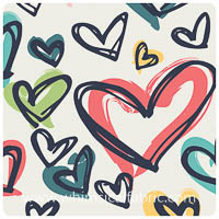 Happy Home - Where The Heart Is Pure - Border Print - Yardage