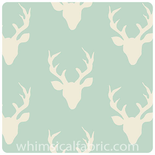 Hello Bear - Buck Forest Mint - Fat Quarter