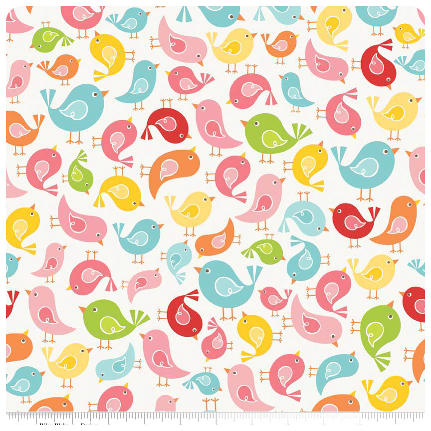 Hello Sunshine - White Birds - Yardage