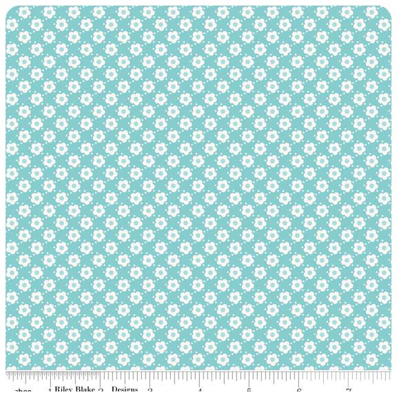 Hello Sunshine - Blue Daisy - Yardage