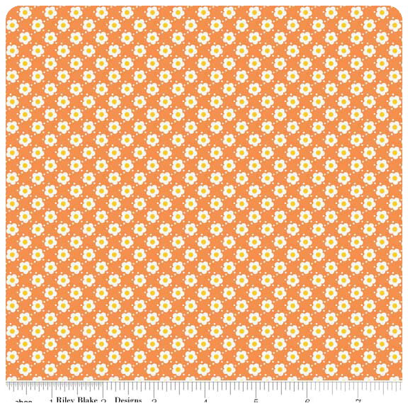 Hello Sunshine - Orange Daisy - Yardage