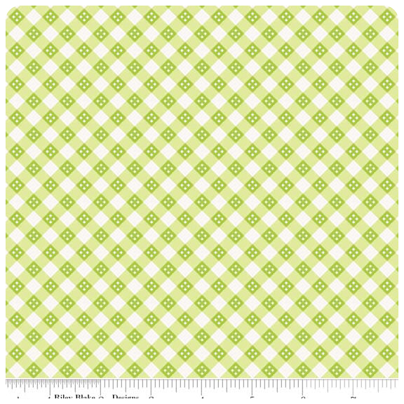 Hello Sunshine - Green Plaid - Yardage