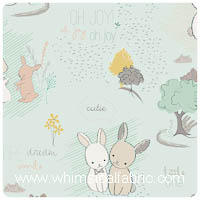 Littlest - Furry Tales Minty - Fat Quarter