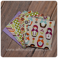 Little Matryoshka Cream 7 pc Fat Quarter Bundle