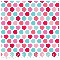 Lovey Dovey - FLANNEL - Blue Dots - Yardage
