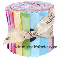 "Dots Tone on Tone Medium 11 pc 2.5""x44"" Jelly Roll Bundle"