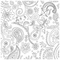 Color Me Fabric - Princess Paisley - Yardage