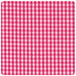 "Fabric Finders - Raspberry 1/16"" Gingham - Chubby Fat Quarter"