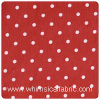 Fabric Finders - Red Dot Corduroy - Chubby Fat Quarter