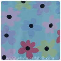 Fabric Finders - Robin's Egg Blue Floral Pique - Yardage
