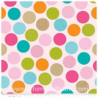 Summer Breeze - FLANNEL - Pink Dots - Yardage