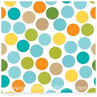 Summer Breeze - FLANNEL - White Dots - Yardage
